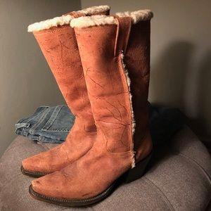John B. Stetson Suede Cowboy Boot